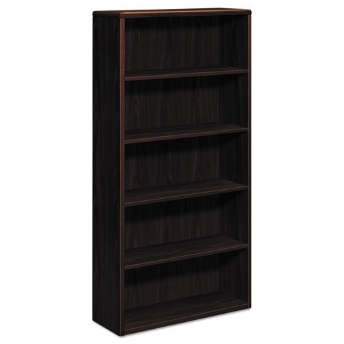 HON 10700 Series Wood Bookcase  - Bookcase with Five Shelves, 36w x 13 1/8d x 71h, Mahogany (H10755)