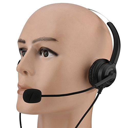 USB Skype Headset, Hands-Free Noise Cancelling Binaural Headset with Microphone & Mute Button,Earmuffs Support 360°Rotation for Chat, Call Center, Online Conference, Webcam, Music, Mac PC Cellphone by Eboxer (Image #1)