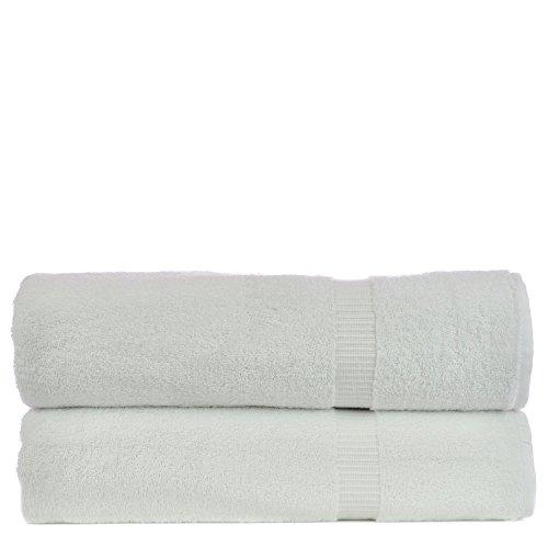 2 Bath Sheets Sets (Luxury Hotel & Spa Towel 100% Genuine Turkish Cotton (White, Bath Sheets - Set of)