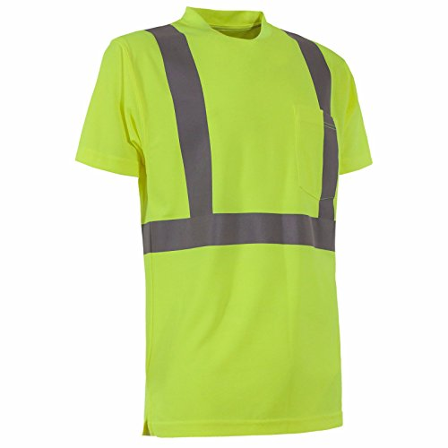 Hi Visibility Large Regular - Berne Hi-Visibility Performance Short Sleeve Tee Size 3XL Regular (Yellow)