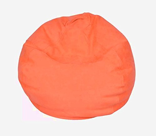 Comfy Armless Chair, Coral Color, Microsuede Material, Durable And High Resistant Construction, Lightweight, Attractive And Modern Design, Eye-Catcing Solid Pattern, Easy Clean, Lounge & - Chair Armless Microsuede