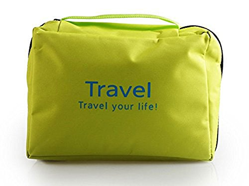 SyncTech Hanging Toiletry Portable Tote Bags Travel Accessories Handy Personal Items Organizers (1.) Green) (Target Classic Zip Tote)