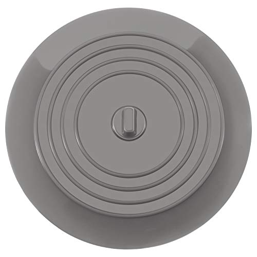 Mudder 6 Inches Silicone Tub Stopper Drain Plug for Kitchens, Bathrooms and Laundries (Light Gray, 1) ()