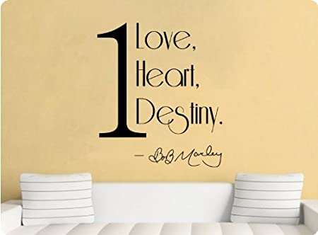 One Love, One Heart, One Destiny Bob Marley Wall Decal Sticker Art ...