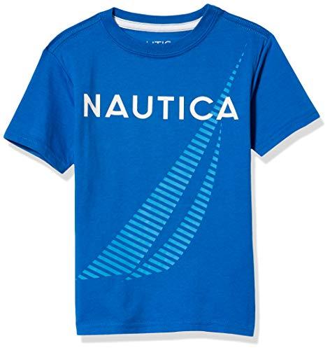 Nautica Boys' Short Sleeve Screenprint Crew Neck T-Shirt