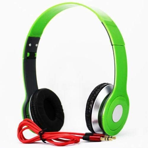SoundStrike 3.5mm Foldable Headphone Headset for Dj Headphone Mp3 Mp4 Pc Tablet sandisc Music Video and All Other Music Players (Grass Green)