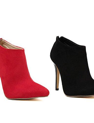 5 us5 Botines Uk3 Stiletto Rojo Tacón Cn35 Black Sintético De 5 Puntiagudos Uk6 5 us8 Botas Negro Exterior Zapatos Cuero Eu36 Casual Red Eu39 Mujer Xzz 5 Cn40 4nBaax