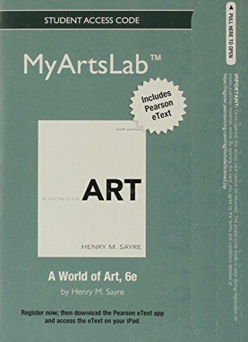 A World of Art Myartslab Student Access Card