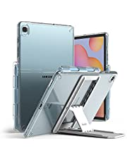 Ringke Fusion with Outstanding [Combo Pack] Transparent Back Samsung Galaxy Tab S6 Lite Case with Overcharge Protection Pencil Holder, Stand Spring-Action Kickstand-Clear (clear)