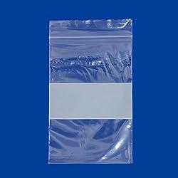 2x3 Plastic Zip Top Bags White Block (Package of 100)