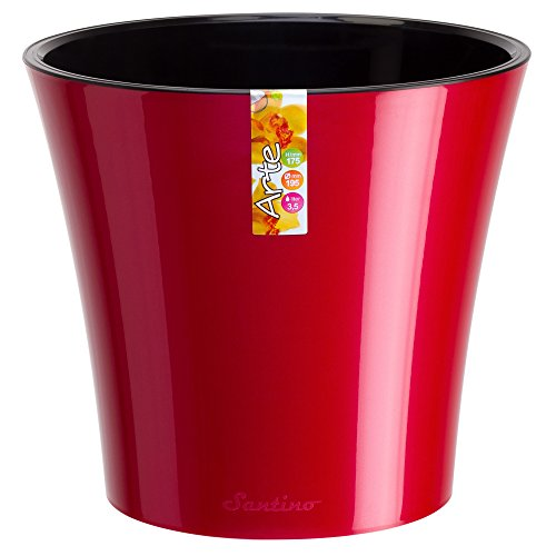 red plant pot - 1