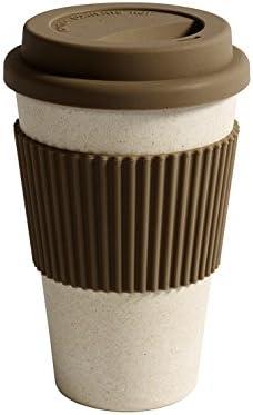 Respetuoso con el medio ambiente de bambú taza térmica con tapa ...