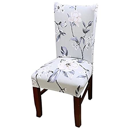 TOOGOOR Removable Elastic Stretch Slipcovers Short Dining Room Chair Seat Cover Decor