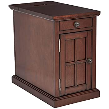 Image of Ball & Cast End Table - Dark Brown Home and Kitchen