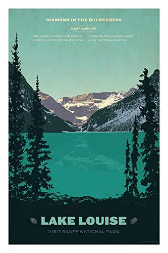 Amazon com: Vintage Travel Poster Tin Sign of Retro Lake