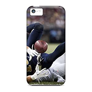 Ultra Slim Fit Hard AmyJoHalum Case Cover Specially Made For Iphone 5c- St. Louis Rams Players