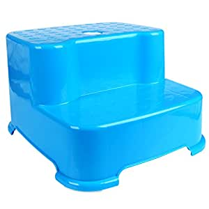 Hierkryst child bathroom 2 step stool 2 steps for kids 2 step plastic step stool Bathroom step stool for kids