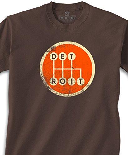 Made In Detroit Youth Shirt - Shifter - Brown w/Orange - Lar
