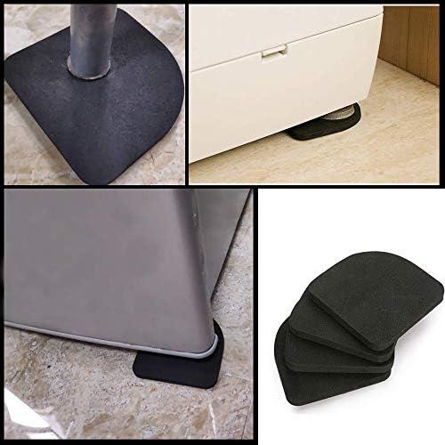 nevera caminadora para lavadora secadora 8 almohadillas de goma EVA antivibraci/ón para lavadora y secadora silla de mesa absorbentes de golpes