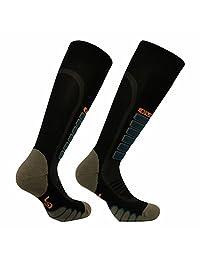 Eurosocks 3211 Silver Supreme OTC Ski Socks with Drystat Moisture Control - Pairs