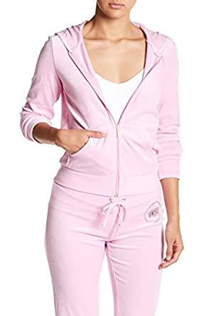 Juicy Couture Certified Juicy Pink Bubble Hoodie Track Jacket XS