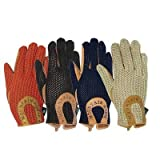 Mountain Horse Crochet Gloves Black, Large