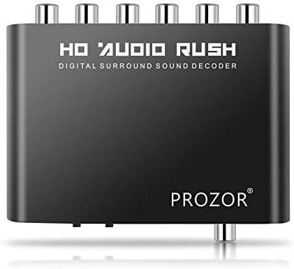Digital a Analógico 5.1 Audio Gear Adaptador Decodificador de Sonido SPDIF RCA Dolby AC3 / DTS Entrada Coaxial Óptica: Amazon.es: Electrónica