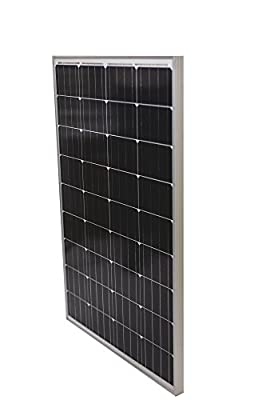 Solmida Outdoor Solar Panel 100 Watt Monocrystalline Panel, High-Efficiency Energy | Snow, High Wind and Weather Resistant | Survival, Prepper, RV, Boat, Van, Camping | Charge 12V Batteries
