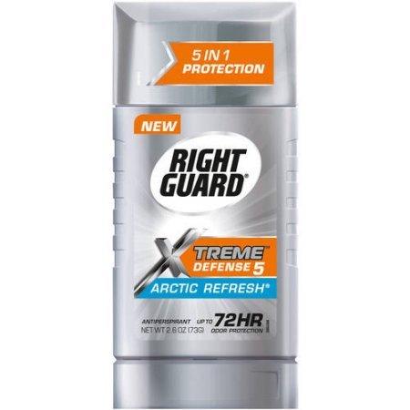 Right Guard Xtreme Defense 5, Arctic Refresh Antiperspirant