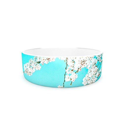 7\ Kess InHouse Monika Strigel Hanami  Teal White Pet Bowl, 7