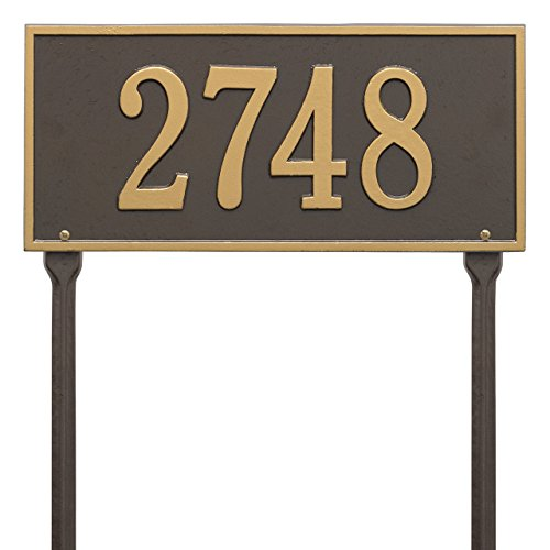 Custom Hartford LAWN Address Plaque 1 Line 16
