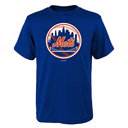 OuterStuff New York Mets YOUTH BOYS Primary Logo T-Shirt - Blue (Youth (Primary Logo)