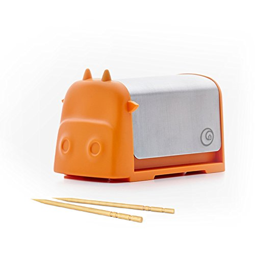 Home And Above Darling Little Cattle Toothpick Dispenser, Amazing Whimsical  Design Looks Like Creative Colorful Cartoon Cow, Press The Top And  Toothpick ...