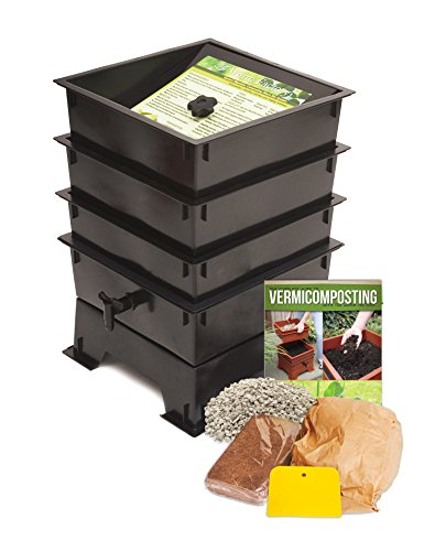 Nature's Footprint Worm Factory DS3BT 3-Tray Worm Composter, Black