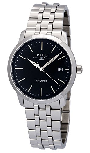 Ball Legend Automatic Stainless Steel Mens Watch Black Dial Calendar NM2030D-SJ-BK -