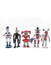 LXYY 5 st/set Fnaf PVC-leksaker 15 cm Fnaf figur Fnaf leksaker syster plats Funtime Foxy Ballora docka figur Freddy PVC actionfigur leksaker