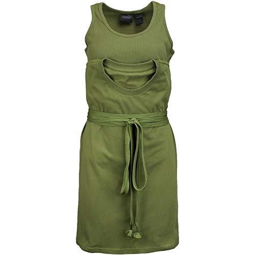 PUMA Women's Fenty Jersey T-Shirt w/ Tank Olive Branch Medium