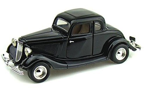 1934 Ford Coupe (Hardtop) Black 1/24 Scale -  Motormax, 73200AC motorm.