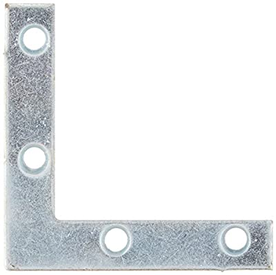 Stanley Hardware 2-Inch Flat Corner Brace, Zinc Plated, 4-Pack #756631