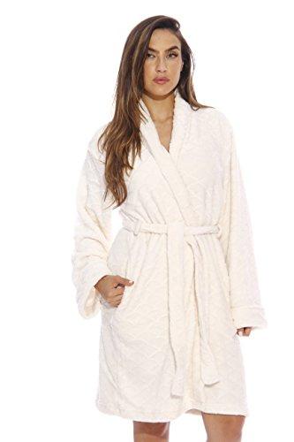 Just Love Kimono Robe / Bath Robes for Women, Size1X, Cream