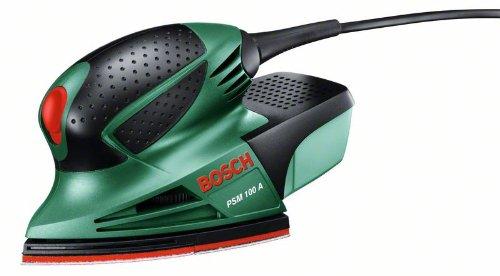 Bosch PSM 100 A - Multilijadora, 3 hojas de lija K 80/ K 120