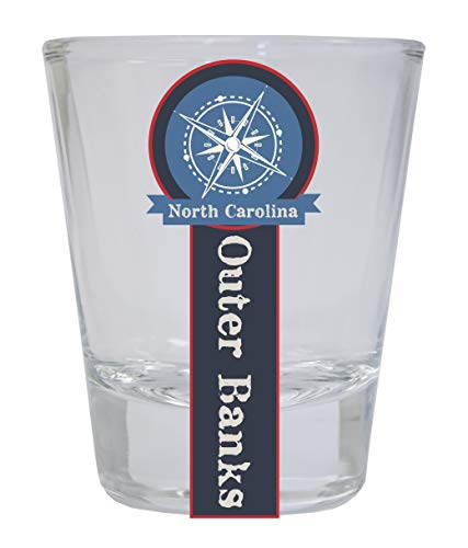 - Outer Banks North Carolina Nautical Souvenir Round Shot Glass
