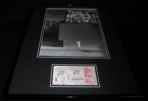 (Willie Mays The Catch 1954 World Series Giants Framed Repro Ticket & Photo Set)
