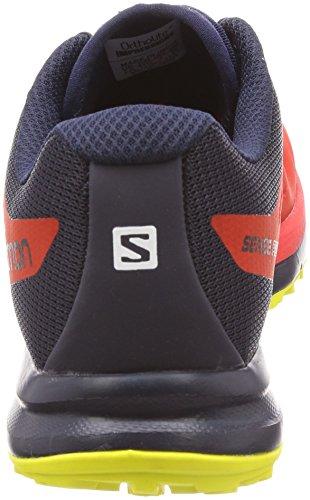 Salomon Mens Sense Pro 2 Hardloopschoenen Vurig Rood / Night Sky / Sulfur Spring