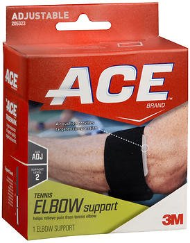 Ace Tennis Elbow Support Adjustable, Moderate Support, Pack of 4 by ACE