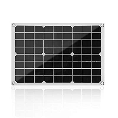 Simoner Flexible Solar Panel Module, Monocrystalline Solar Power System 12V Battery Charging, Lightweight Camping Solar Charger w/MC4 Connector Fits RV, Boat, Trailer, Cabin,Tent