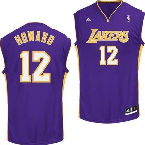 adidas Los Angeles Lakers Dwight Howard Youth Swingman Purple Jersey X-Large