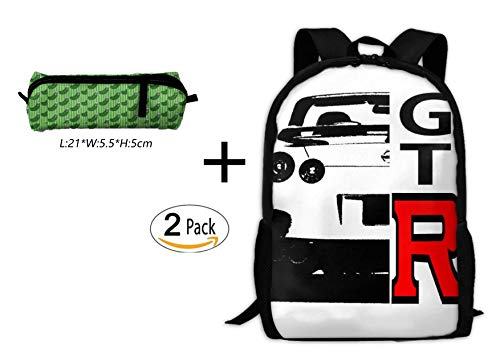 WANGZII GTR Backpack For Women Men,School Hip Hop College Backpack Lightweight Packable Travel Hiking Fashion Backpack by WANGZII