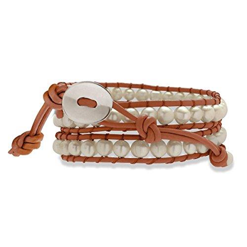 Nova pearls copenhagen bracelet orange