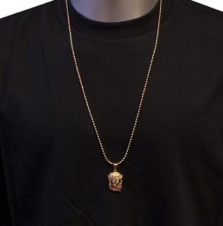 Amazon mega jewellery black cz 15 mini jesus piece pendant w mega jewellery 18k rose gold plated micro jesus piece with 30 inch ball chain necklace and aloadofball Choice Image